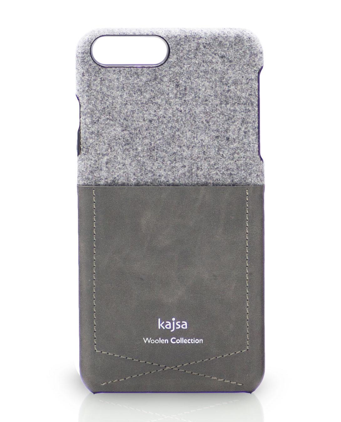 iPhone 8 Schutzhülle aus Wolle mit Tasche aus Leder