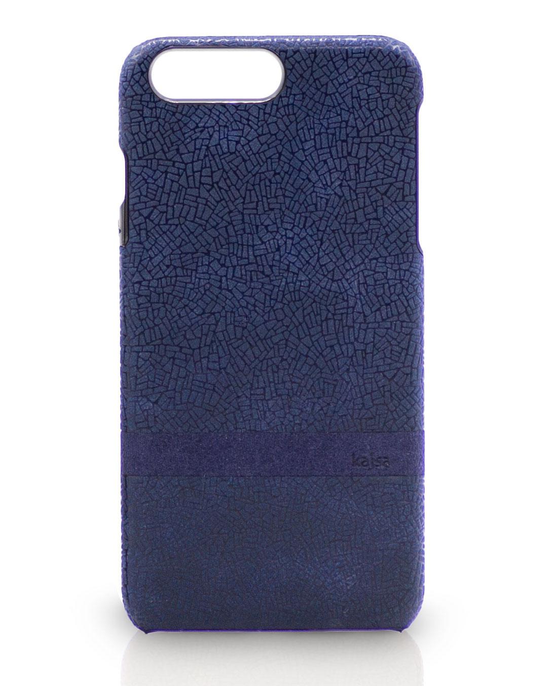 Blaue iPhone 8 Case Leder mit Muster